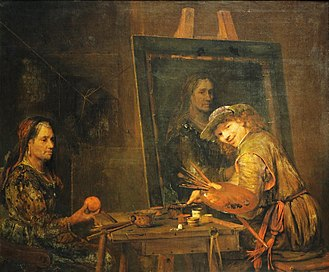 Dutch Golden Age painting - Aert de Gelder, Self-portrait as Zeuxis (1685)