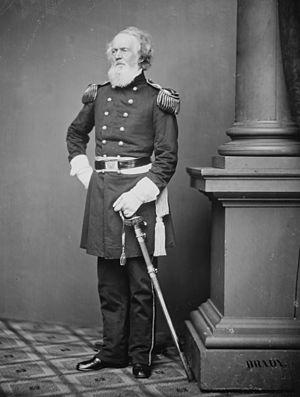 Joseph K. Mansfield - Maj. Gen. Joseph K. Mansfield, photograph by Mathew Brady