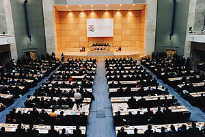 History of the World Trade Organization - The World Trade Organization Ministerial Conference of 1998, in the Palace of Nations (Geneva, Switzerland).