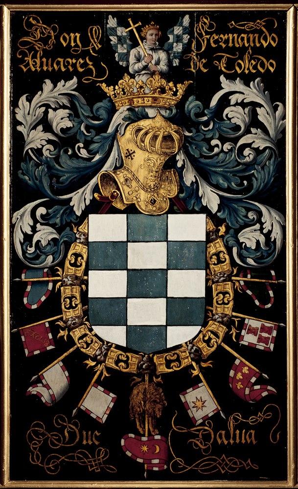 Gent, Sint-Baafskathedraal blazoen Fernandez Alvarez de Toledo B STB 433 194