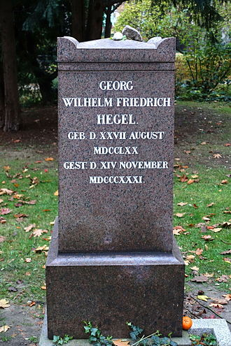 Georg Wilhelm Friedrich Hegel - Hegel's tombstone in Berlin