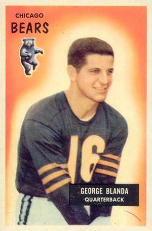 George Blanda - Blanda on a 1955 Bowman football card