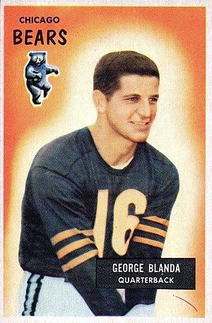 George Blanda - Blanda on a 1955 Bowman football card