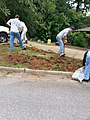 Georgia Native Plant Society planting butterfly garden in Heritage Park, Mableton, Cobb County, Sept 2015 07.jpg