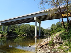 Withlacoochee River (Suwannee River) - Image: Georgia State Route 31 bridge, Aug 2015 c