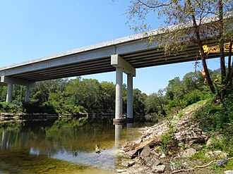 Withlacoochee River (Suwannee River tributary) - Image: Georgia State Route 31 bridge, Aug 2015 c