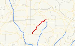 Georgia State Route 108 - Image: Georgia state route 108 map