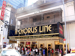 Gerald Schoenfeld Theatre - Gerald Schoenfeld Theatre, showing a revival of the musical A Chorus Line, May 2007