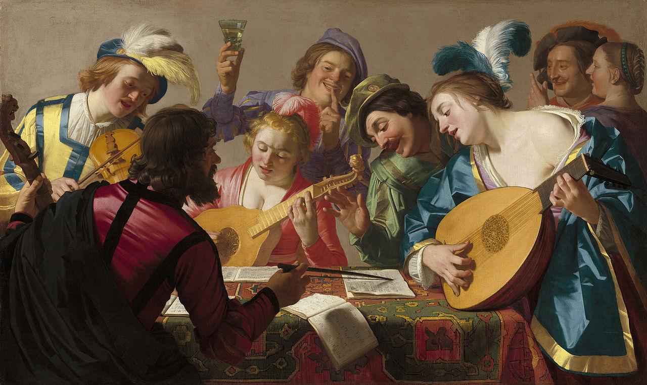 Musicians, ca 1600 dans immagini sacre 1280px-Gerard_van_honthorst_-_the_concert_-_1623