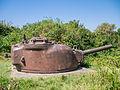 Geschutskoepel van een Sherman tank in het Kazemattenmuseum.jpg