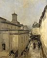 Gezicht op de Notre Dame de Lorette en de Rue Fléchier te Parijs Rijksmuseum SK-A-3092.jpeg