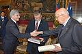 Giorgio Napolitano, Joseph H.H. Weiler and Pasquale Ferrara (12789176693).jpg