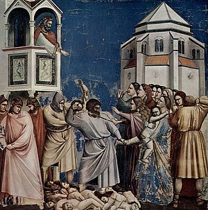 Massacre of the Innocents - Image: Giotto di Bondone No. 21 Scenes from the Life of Christ 5. Massacre of the Innocents