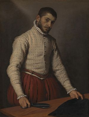 Giovanni Battista Moroni - The Tailor, painting by Giovanni Battista Moroni, 1570–1575, National Gallery (London)