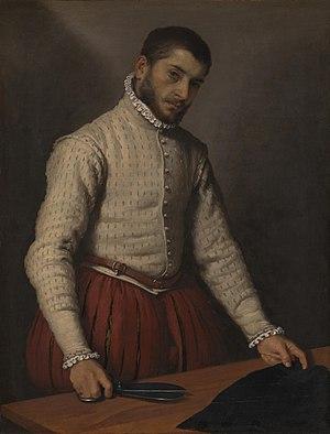 Giovanni Battista Moroni - The Tailor, painting by Giovanni Battista Moroni, 1570–1575, National Gallery (London)