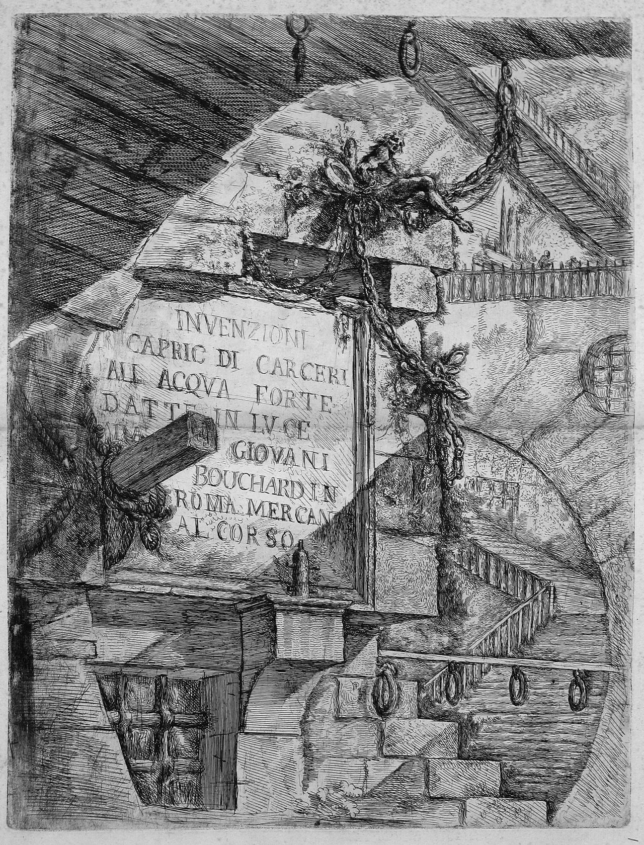Giovanni Battista Piranesi - Le Carceri d'Invenzione - First Edition - 1750 - 01 - Title Plate.jpg