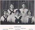 Girls Junior Basketball Team in 1915, Kipikawi Yearbook 1915 from Racine High School, Racine, Wisconsin, USA (page 48 crop).jpg