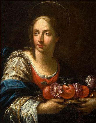 Dorothea of Caesarea - Image: Girolamo Donnini Santa Dorotéia