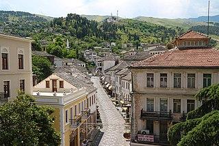 Gjirokastër city in Albania