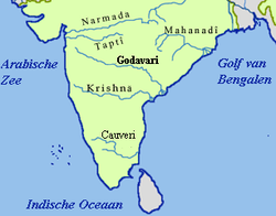 Path of the Godavari through the South Indian Peninsula