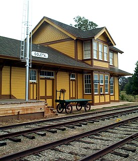 Goleta Depot place in California listed on National Register of Historic Places