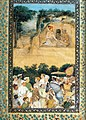 Govardhan. Jahangir Visiting the Ascetic Jadrup. ca. 1616-20, Musee Guimet, Paris.jpg
