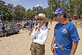 Governor-General of Australia, Quentin Bryce views the gumi's with event organiser and South Wagga Apex volunteer, Glenn Maslin.jpg