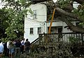 Governor Mark R. Warner visits a Richmond neighborhood damaged by Hurricane Isabel, September 22, 2003. Governor Mark R. Warner, Press Office records, 2001-2006 (bulk 2002-2006), accession 42460, Box (21860573266).jpg