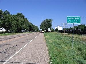 Granada, Colorado - Looking west on U.S. Highway 50/400