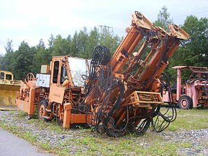 English: Mining equipment in Grängesberg