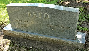 George Beto - Grave of Beto at the Texas State Cemetery