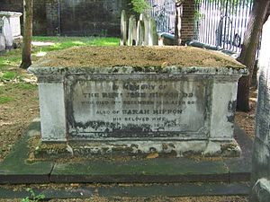 John Rippon - Rippon's grave in Bunhill Fields, London.