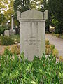 Grave of swedish artist Carl Fredrik Hill in Lund Sweden.JPG