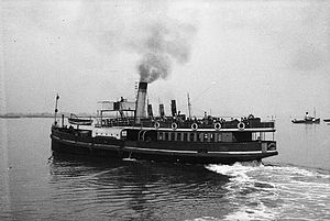 Gravesend–Tilbury Ferry - Ferry SS Gertrude, built 1906, pictured in 1924 or 1925
