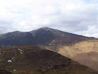 Grisedale Pike - Grisedale Pike seen from the fell of Barrow, 3 km to the east