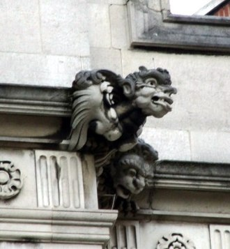 Grotesque (architecture) - Image: Grotesque by Nathaniel Hitch 2 Temple Place. Embankment. London