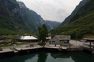 Gudvangen - Looking towards Gudvangen from the fjord
