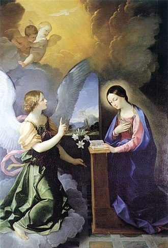 Virgin birth of Jesus - The Annunciation, by Guido Reni, 1621