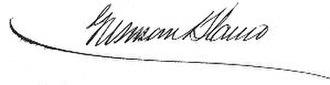 Antonio Guzmán Blanco - Image: Guzmán Blanco signature