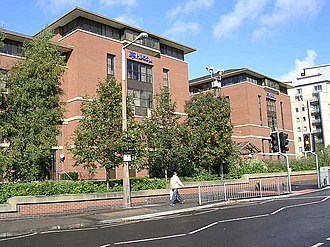 Leeds Permanent Building Society - HBOS offices in Lovell Park, Leeds, formerly that of the Leeds Permanent Building Society, before their takeover by the Halifax in 1995