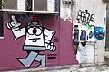 HK 上環 Sheung Wan 太平山街 Tai Ping Shan Street 水巷 Water Lane back Graffit wall painting April 2018 IX2 07.jpg
