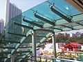 HK Causeway Road covered footbridge escalators view Victoria HKBPE Jan-2013.jpg