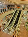 HK TST Harbour City mall interior escaltors night 9-Apr-2013.JPG