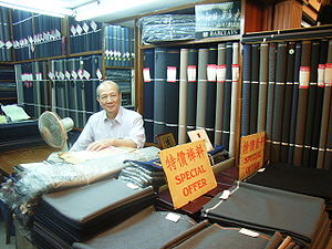 Western Market - One of the current tenants on the 1st floor is Mr Chan who is a cloth dealer.