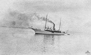 Australian steamer Adele - Image: HMAS Franklin