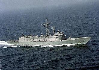 HMAS Sydney (FFG 03) - Sydney underway in the Persian Gulf during the Operation Damask deployment