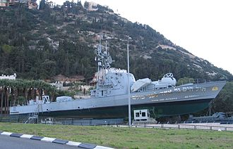 Clandestine Immigration and Naval Museum - INS Mivtach, retired ship on permanent display at museum.