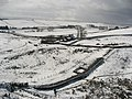 Hadrian's Wall and turret near Peel (3) - geograph.org.uk - 747355.jpg