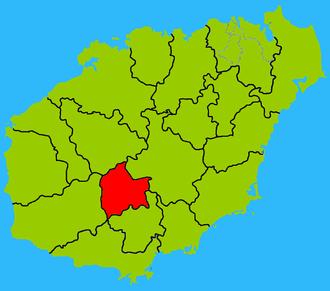 Wuzhishan City - Image: Hainan subdivisions Wuzhishan