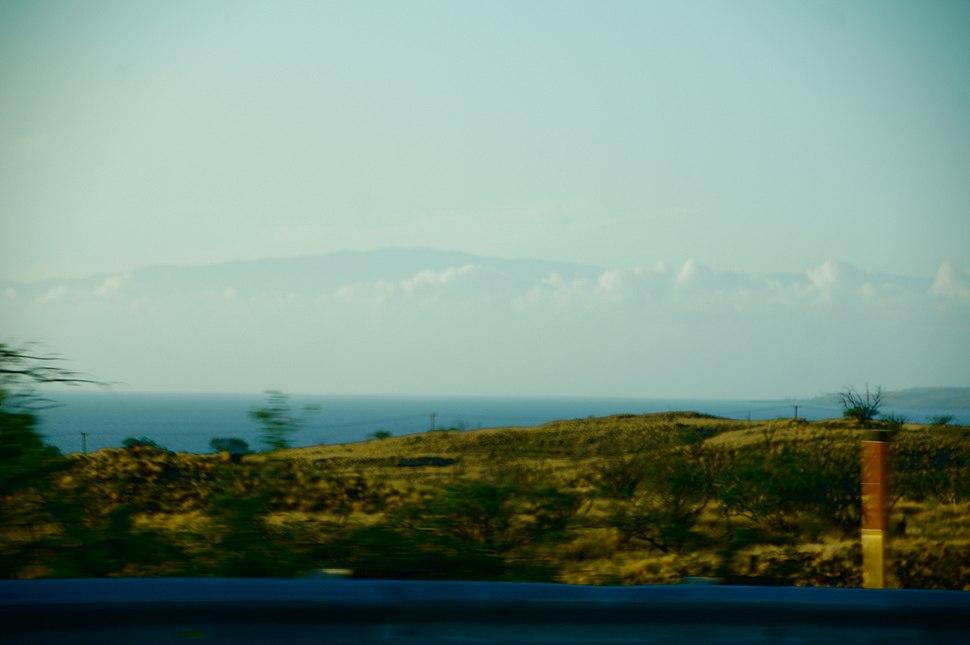 Haleakalā as seen from Big Island, Hawaii